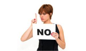 La importancia de decir que no